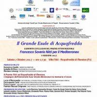 7 ottobre – Premio internazionale Francesco Saverio Nitti per il Mediterraneo