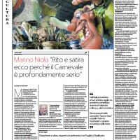 """""""Rito e satira. Ecco perché il Carnevale è profondamente serio"""" – Repubblica ed. Puglia"""