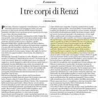 I tre corpi di Renzi – la Repubblica