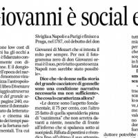 «Don Giovanni è social e trans». Ne parlo con Ida Palisi su Il MATTINO
